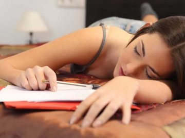 shutterstock College Student Sleeping