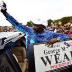 Football God Become President. Former AC Milan striker George Weah