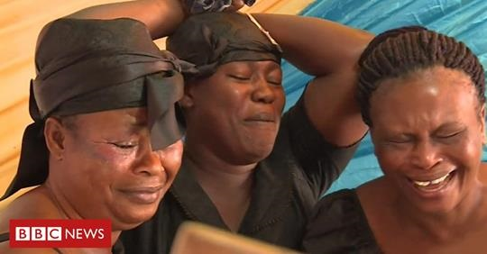 The women paid to cry at the funerals of strangers in Ghana