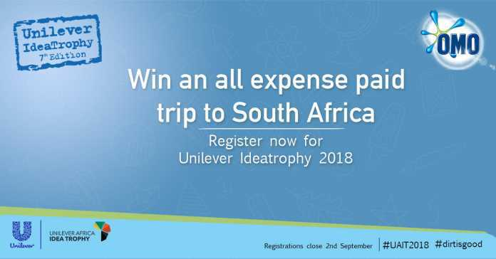 Unilever Africa Idea Trophy Competition 2018 for Students